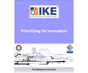 COURSE: PRIORITISING FOR INNOVATION brochure cover